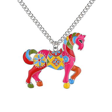 povoljno Modne ogrlice-Ogrlice s privjeskom Konj Unicorn Sa životinjama dame Europska Moda Legura Zlato Pink 62 cm Ogrlice Jewelry Za Dnevno