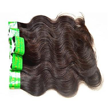 povoljno Ekstenzije od ljudske kose-6 paketića Indijska kosa Tijelo Wave Virgin kosa Remy kosa tkati Prirodna boja Isprepliće ljudske kose Rasprodaja Za crnkinje 100% Djevica Proširenja ljudske kose / 10A