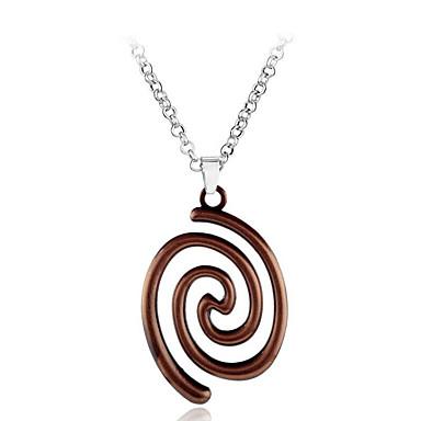 povoljno Modne ogrlice-Žene Ogrlice s privjeskom Twist Circle Jednostavan Europska Glina Legura Braon Pink 50 cm Ogrlice Jewelry Za Dar Dnevno