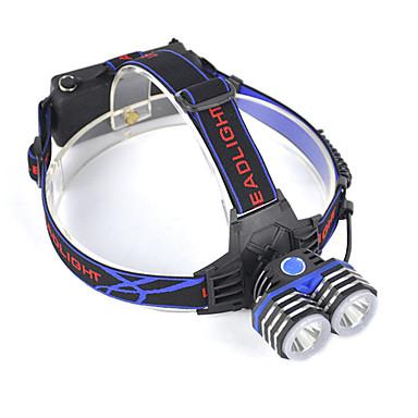 Hodelykter Frontlys til sykkel 5000 lm LED LED emittere 1 lys tilstand Profesjonell Slitasje-sikker Lettvekt Camping / Vandring / Grotte Udforskning Dagligdags Brug Jakt Blå