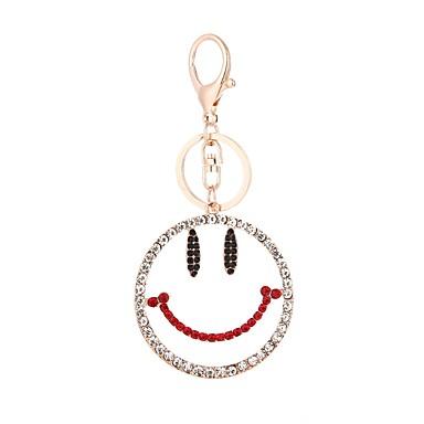 levne Dámské šperky-Klíčenka Smajlíky Evropský Módní Fashion Ring Šperky Zlatá Pro Dar Denní