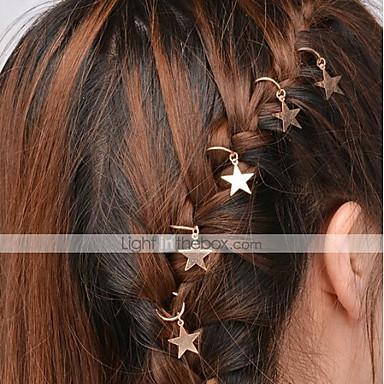 levne Dámské šperky-Dámské Jednoduchý Klasické & nadčasové Cute Style Slitina Doplňky do vlasů Vlasové kouzlo Kroužky na vlasy Párty Denní - Jednobarevné