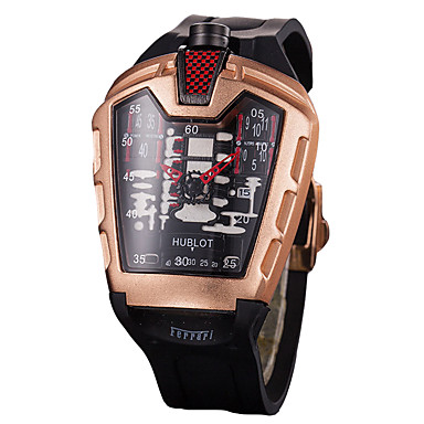저렴한 정사각형 및 직사각형 시계-여성용 스포츠 시계 스퀘어 시계 석영 사치 크로노그래프 실리콘 블랙 아날로그 - 블랙 퍼플 옐로우 1 년 배터리 수명 / 큰 다이얼 / Sony SR626SW