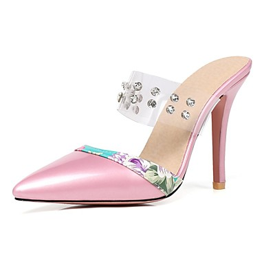2588ddff722 Women s Shoes Patent Leather Summer Slingback Sandals Walking Shoes  Stiletto Heel Pointed Toe Rhinestone Red   Pink   Almond 6716815 2019 –   29.99