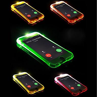 povoljno iPhone maske-Θήκη Za Apple iPhone X / iPhone 8 Plus / iPhone 8 LED bljeskalica Stražnja maska Jednobojni Mekano TPU