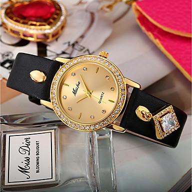 levne Dámské-Dámské Unikátní Creative hodinky Maketa Diamant Hodiny Diamond Watch Křemenný Z umělé kůže Černá / Červená / Fialová Chronograf imitace Diamond Analogové dámy kreativita Módní - Modrá Fruit Green
