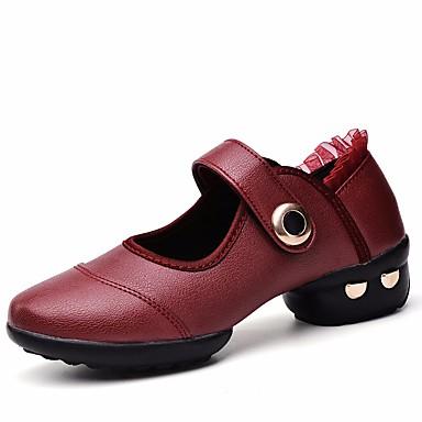 daea0641ea27be Dame Moderne sko Lær Høye hæler Lav hæl Dansesko Hvit   Svart   Rød    Ytelse   Trening 6666273 2019 –  39.99