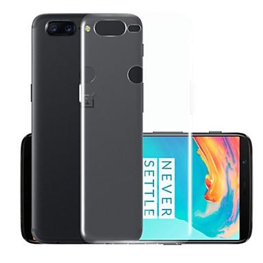 Etui Til OnePlus OnePlus 5T Gjennomsiktig Bakdeksel Ensfarget Myk TPU
