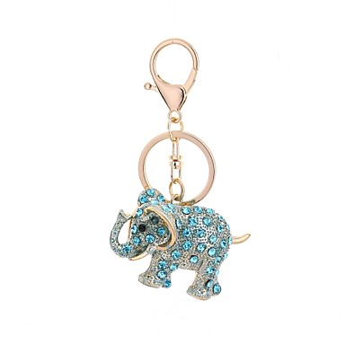 cheap Keychains-Keychain Elephant Casual Fashion Ring Jewelry Light Blue / Light Brown / Light Pink For Gift Daily