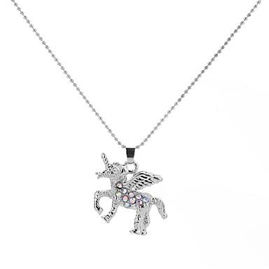 povoljno Modne ogrlice-Ogrlice s privjeskom Lančići Geometrijski Debeli lanac Klaun Unicorn Zvjezdana prašina Crtići Vjenčanje Ogroman Metal Legura Obala 50 cm Ogrlice Jewelry Za Party Spoj Kamado roštilj