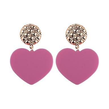 povoljno Modne naušnice-Viseće naušnice Srce Gear dame Moda Naušnice Jewelry Tirkiz / Svjetloplav / Light Pink Za Party Dnevno Spoj