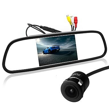 levne Auto Elektronika-ziqiao 5 palcový tft-lcd ccd drátěný 170 stupňů automobilu zadní pohled sada skládací nepromokavý pro auto