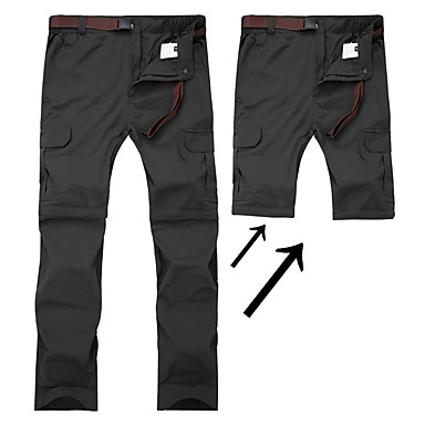 cheap Under €19-Men's Hiking Pants Convertible Pants / Zip Off Pants Outdoor Waterproof Breathable Quick Dry Sweat-wicking Pants / Trousers Convertible Pants Bottoms Camping / Hiking Fishing Climbing Black Army