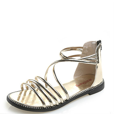 9ebc2c393 Women s Shoes Synthetic Summer Comfort   Gladiator Sandals Flat Heel Gold    Black   Silver 6693722 2019 –  34.99