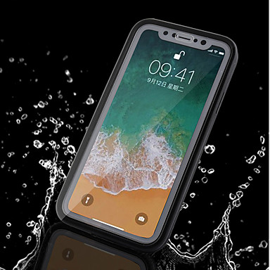 povoljno iPhone maske-Θήκη Za Apple iPhone X / iPhone 8 Plus / iPhone 8 Vodootporno Korice Jednobojni Mekano TPU