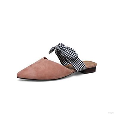Mujer Zapatos Cuero Primavera / Verano Confort Zuecos y pantuflas Tacón Cuadrado Dedo Puntiagudo Negro / Café / Rosa 100% Authentique Images Footlocker wKVfi6