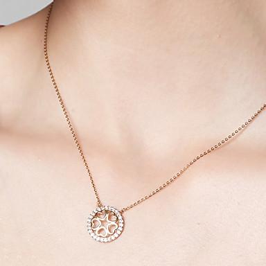 levne Dámské šperky-Dámské Náhrdelníky s přívěšky Řetízky Pozlaceno 18k S925 Sterling Silver Srdce Lahůdka dámy Zlatá 40 cm Náhrdelníky Šperky Pro Dar Denní