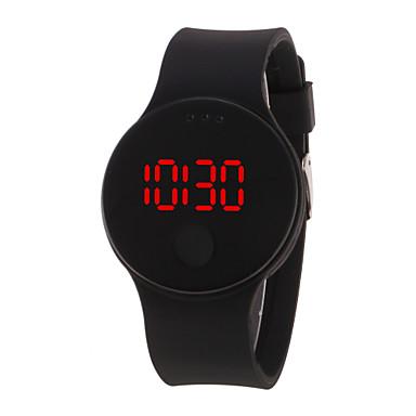 levne Pánské-Pánské Dámské Digitální hodinky Digitální Silikon Černá / Bílá / Modrá 30 m Voděodolné LCD 3D  komiks Digitální Cool Elegantní - Černá Bílá Fialová Jeden rok Životnost baterie