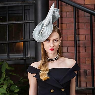 povoljno Party pokrivala za glavu-Poliester Kentucky Derby Hat / Šeširi s Perje / Cvjetni print 1pc Vjenčanje / Zabava / večer Glava