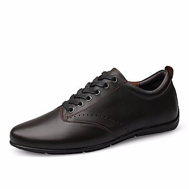 91bce7e52 رجالي أحذية الراحة جلد الخريف أحذية رياضية أسود / كوفي 6667143 2019 – $54.99