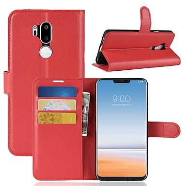 Etui Til LG LG X venture / LG V30 / LG V20 Lommebok / Kortholder / Flipp Heldekkende etui Ensfarget Hard PU Leather / LG G6