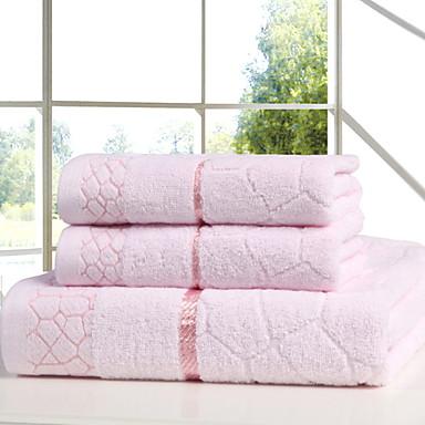 preiswerte Handtücher und Bademäntel-Gehobene Qualität Badehandtuch / Handtuch, Solide Polyester / Baumwolle 3 pcs