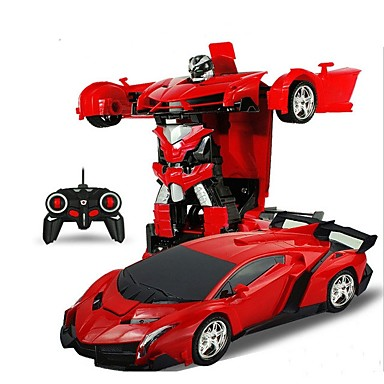 Radiostyrd Bil 2in1 Rc Car Sports Car Transformation Robots Models 4