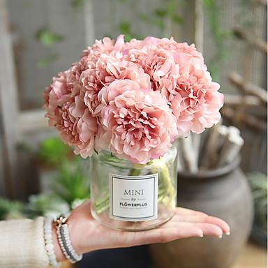 preiswerte Meistverkauft-Künstliche Blumen 5 Ast Hochzeit Hochzeitsblumen Pfingstrosen Ewige Blumen Tisch-Blumen