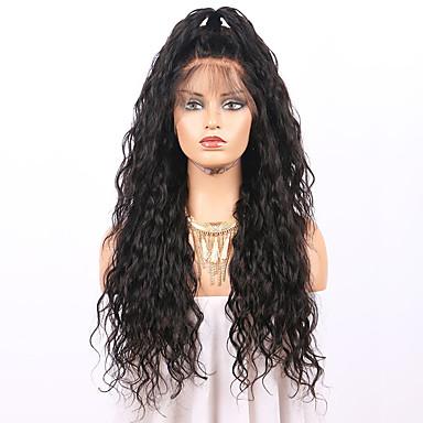 Remy Menneskehår Blonde Forside Parykk stil Brasiliansk hår Bølget Parykk 130% Hair Tetthet med baby hår Naturlig hårlinje Afroamerikansk parykk ubehandlet Blekte knuter Dame Kort Blondeparykker med