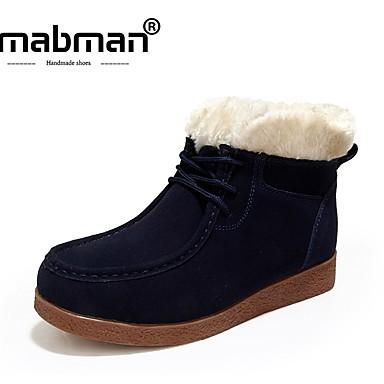 De Haute Qualité À Vendre Acheter Pas Cher Bonne Vente Mujer Zapatos Piel de Oveja Invierno Botas de nieve Botas Tacón Plano Azul Oscuro / Amarillo / Borgoña Magasin De Dédouanement Frais De Port Offerts AtZTkPrwk