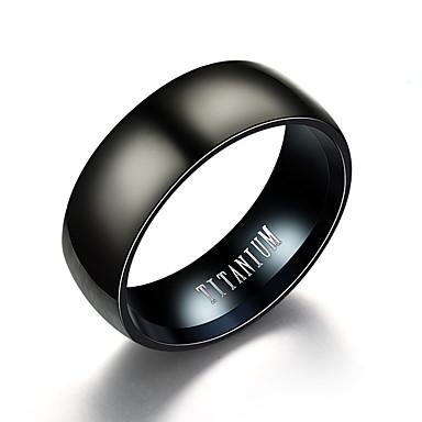 levne Pánské šperky-Pánské Band Ring Černá Titanová ocel Volframová ocel Nerezové Circle Shape Vintage počáteční šperky Denní Večerní oslava Šperky