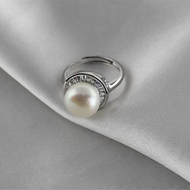 billige Motering-Dame Knokering Perle Sølv Perle S925 Sterling Sølv Legering damer Klassisk Elegant Bursdag Gave Smykker