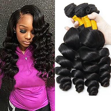 povoljno Ekstenzije za kosu-4 paketića Indijska kosa Wavy Ljudska kosa Ljudske kose plete Ekstenzije od ljudske kose 8-28 inch Prirodna boja Isprepliće ljudske kose Najbolja kvaliteta Rasprodaja Za crnkinje Proširenja ljudske