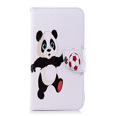 Etui Til Huawei Huawei P20 / Huawei P20 Pro / Huawei P20 lite Lommebok / Kortholder / med stativ Heldekkende etui Panda Hard PU Leather / P10 Lite