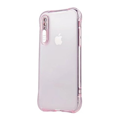 quality design 99fa1 665fd [$3.99] Case For Apple iPhone X / iPhone 8 LED Flash Lighting / Transparent  Back Cover Solid Colored Soft TPU for iPhone X / iPhone 8 Plus / iPhone 8