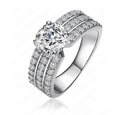 billige Engasjement-Dame Band Ring Micro Pave Ring Diamant Kubisk Zirkonium liten diamant Sølv Kobber Uregelmessig damer Klassisk Mote Engasjement Daglig Smykker Snøfnugg