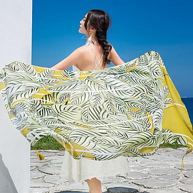 Overlegen kvalitet Strandhåndkle, Geometrisk / Blomster / botanikk Polyester / Bomull 1 pcs