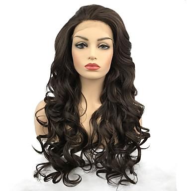 Pruik Lace Front Synthetisch Haar Gekruld Stijl Middelste Stuk