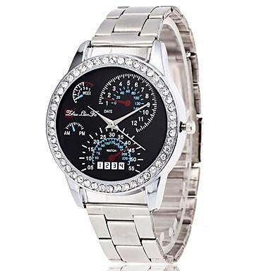 preiswerte Luxusuhren-Damen Uhr Armbanduhr Quartz Legierung Silber Chronograph Imitation Diamant Großes Ziffernblatt Analog damas Luxus Modisch Silber / Ein Jahr / SSUO LR626