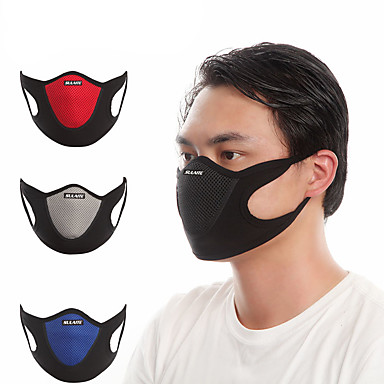 cheap Balaclavas & Face Masks-Sports Mask Pollution Protection Mask Patchwork Breathable Dust Proof Bike / Cycling Red Grey Blue Velvet Lycra for Men's Women's Adults' Cycling / Bike Bike / Cycling Trail Patchwork 1 pc