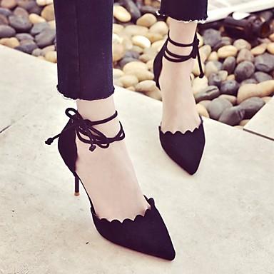 Mujer Zapatos Cuero Nobuck Primavera / Otoño Confort / Pump Básico Tacones Tacón Cuadrado Blanco / Negro Qv2ls4YgId