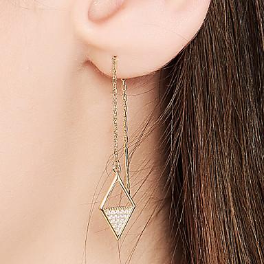 preiswerte Ohrringe-Damen Tropfen-Ohrringe 18 karat vergoldet S925 Sterling Silber Ohrringe Zierlich damas Schmuck Gold Für Hochzeit Formal