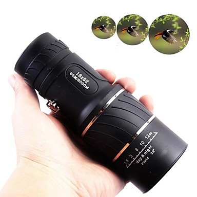 cheap Binoculars, Monoculars & Telescopes-16 X 52 mm Monocular Lenses Mini Portable Lightweight 66/8000 m Multi-coated BAK4 Camping / Hiking Hunting Fishing Sports Outdoor Plastic / Bird watching