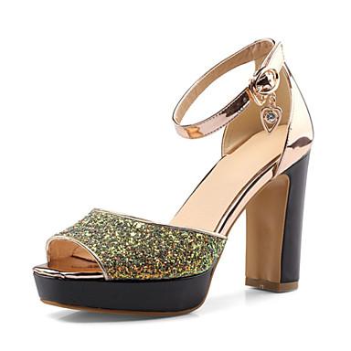 Mujer Zapatos Materiales Personalizados / Semicuero Verano Confort Sandalias Tacón Cuadrado Punta abierta Beige / Rosa / Almendra r2ECv