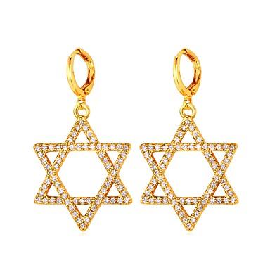 povoljno Modne naušnice-Okrugle naušnice morska zvijezda Zvijezda Davida Pentagram dame Moda Naušnice Jewelry Zlato / Pink Za Dnevno Spoj