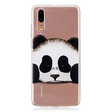 Etui Til Huawei Huawei P20 / Huawei P20 Pro / Huawei P20 lite Gjennomsiktig Bakdeksel Panda Myk TPU / P10 Plus / P10 Lite / P10