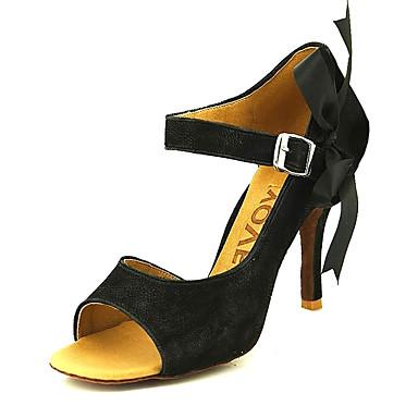 90956ccaeaecd8 Per donna Scarpe per balli latini / Liscio / Scarpe per salsa Velluto  Sandali Fibbia Tacco su misura Personalizzabile Scarpe da ballo Nero /  Giallo / Di ...