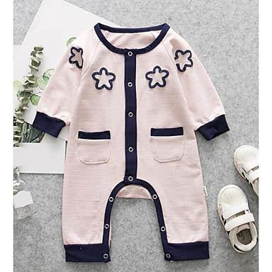 povoljno Odjeća za bebe-Dijete Uniseks Dnevno Prugasti uzorak Moderna Dugih rukava Jednodijelno Blushing Pink / Slatko