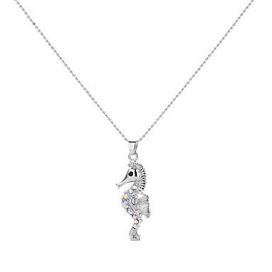 levne Dámské šperky-Náhrdelníky s přívěšky Koňská hlava Zvíře dámy Vintage Barevná Slitina Bílá 50 cm Náhrdelníky Šperky Pro Párty Promoce Dar