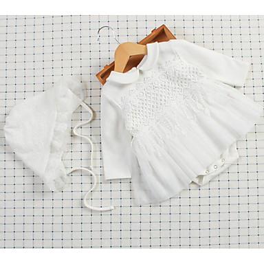 povoljno Odjeća za bebe-Dijete Djevojčice Dnevno Jednobojni Peplum / Moderna Dugih rukava bodysuit Obala / Slatko